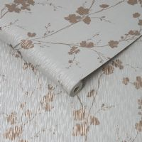Graham and Brown Theia Blossom Rose Gold 106601 Wallpaper
